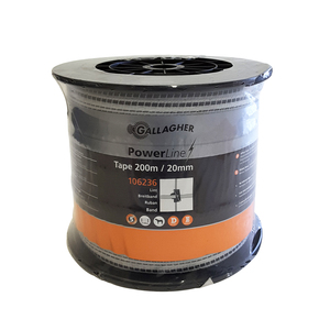 Gallagher Polytape 200m 20mm 6 Strand