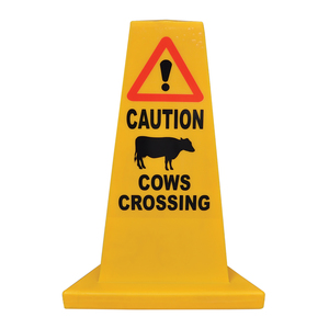 Cows Crossing Traffic Cone