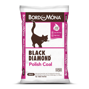 Bord Na Mona Black Diamond Polish Coal 20kg