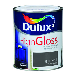 Dulux High Gloss Gunmetal 750ml