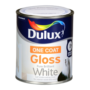 Dulux Once Gloss Brilliant White 750ml