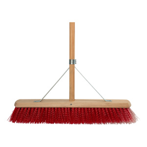 24in Stiff Synthetic Platform Broom with Stay