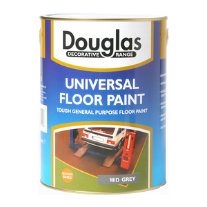 Douglas Universal Floor Paint in Mid-Grey 5L