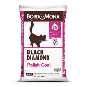 Bord Na Mona Black Diamond Polish Coal 40kg