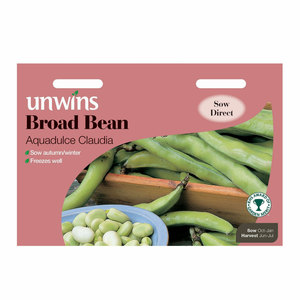 Unwins Broad Bean Aquadulce Claudia Seeds