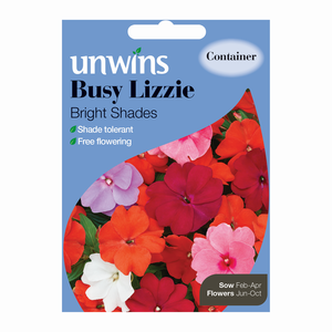 Unwins Busy Lizzie Bright Shades Seeds