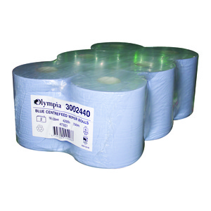 Blue Centrefeed Roll 6pk