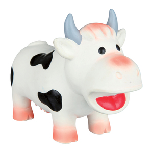 Trixie Latex Cow Dog Toy With Sound 19cm