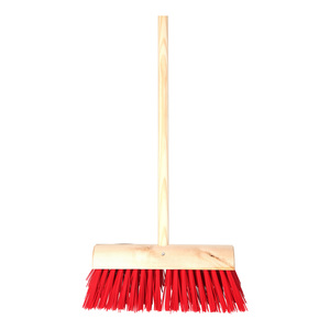 13in Red PVC Broom