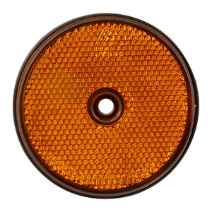Round Reflector Amber 60mm
