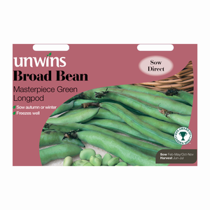 Unwins Broad Bean Masterpiece Green Longpod