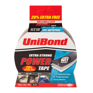 Unibond Extra Strong Power Tape - Black (20% Extra Free)