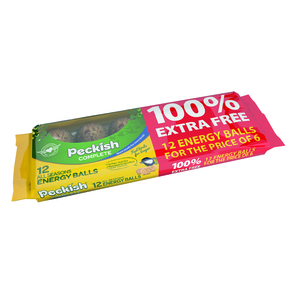Peckish Complete Energy Balls 6 Pack + 100% Extra Free
