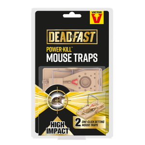 Victor Deadfast Power Kill Twin Mouse Trap