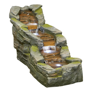 Kelkay Simmering Falls Water Feature With LED Light