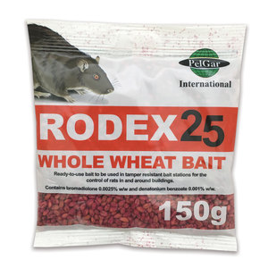 Rodex 25 Whole Wheat Rat Bait 150g