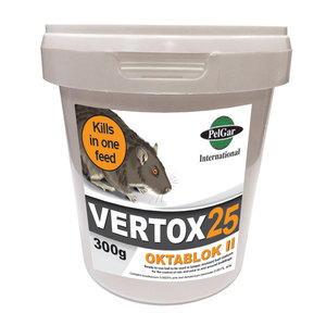 Vertox 25 Rat & Mouse Block Bait 300g
