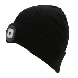 Thinsulate Kids Beanie & LED Light Black