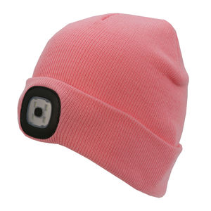 Thinsulate Kids Beanie & LED Light Pink
