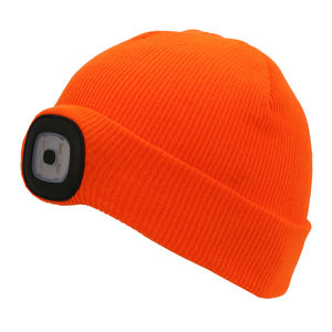 Thinsulate Kids Beanie & LED Light Orange