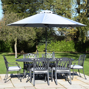 Florence Cast Aluminium 6 Seater Oval Set