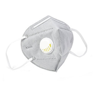 KN95 Valved Mask with Earloop Grey