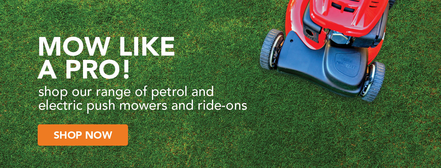 MOw like a pro with our range of lawnmowers