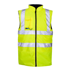 High Viz Fleece Lined Bodywarmer