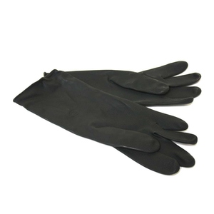 Black Rubber Dairy Gloves