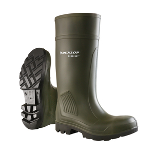 Dunlop Purofort Full Safety Green Wellington