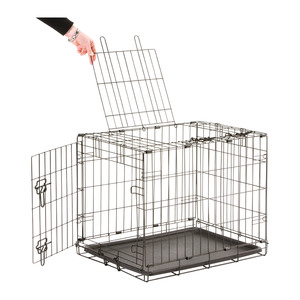 Dog Cottage Black Wire Cage