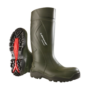 Dunlop Purofort Plus Full Safety Green Wellington
