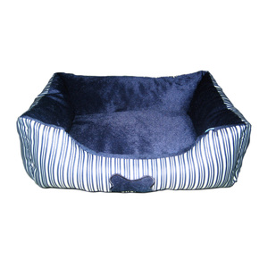 Toto & Mimi Striped Bed Blue