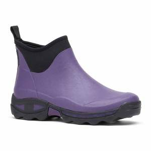 Rouchette Purple Ladies Ankle Boot