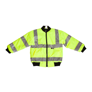 Kids Hi Viz Yellow Bomber Jacket
