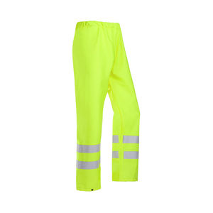 High Visibility trousers with front and back reflective strips and elastic waistband